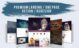 Premium Landing / One Page Design / Redesign
