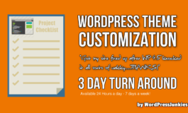 WordPress Theme Customization / Modification
